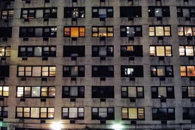 Apartment Building in Manhattan at Night, New York City