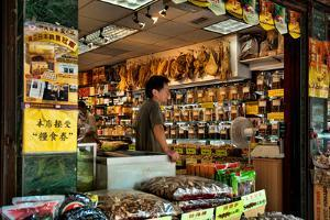 Asian Grocery Shop in Chinatown, New York City by Sabine Jacobs