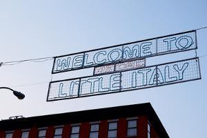 Banner on Mulberry Street, Little Italy, New York City by Sabine Jacobs