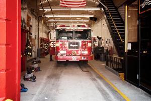 Fire Engine 55 Near Chinatown, Manhattan, New York City by Sabine Jacobs