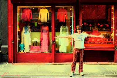 Man in Front of a Clothing Shop, New York City.