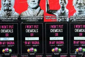Poster Advertising an Exhibition and Condoms, New York City by Sabine Jacobs