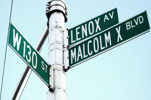 Street Sign in Harlem, New York City by Sabine Jacobs