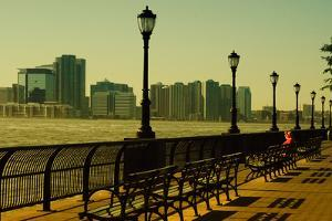 The Promenade in Lower Manhattan with New Jersey. by Sabine Jacobs