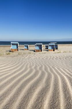 Beach Baskets on the Beach, Sylt Island, Northern Frisia, Schleswig-Holstein, Germany by Sabine Lubenow