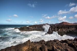 Cliffs, Los Hervideros, Lanzarote, Canary Islands, Spain by Sabine Lubenow
