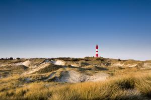 Lighthouse in the Dunes, Amrum Island, Northern Frisia, Schleswig-Holstein, Germany by Sabine Lubenow