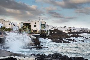 Rough Sea, Punta De Mujeres, Lanzarote, Canary Islands, Spain by Sabine Lubenow