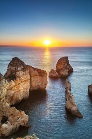 Sunrise, Ponta De Piedade, Lagos, Algarve, Portugal by Sabine Lubenow
