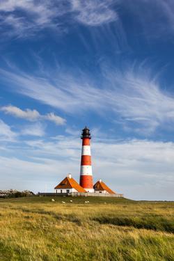 Westerhever Lighthouse, Eiderstedt Peninsula, Northern Frisia, Schleswig-Holstein, Germany by Sabine Lubenow
