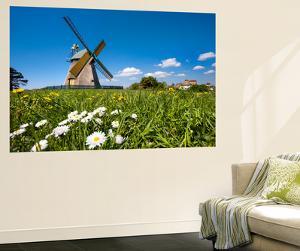 Windmill, Nebel, Amrum Island, Northern Frisia, Schleswig-Holstein, Germany by Sabine Lubenow