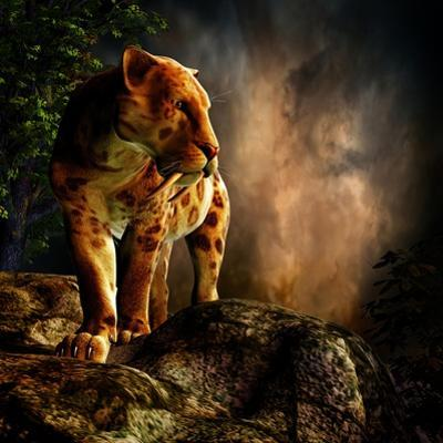 Sabre-Toothed Cat on the Prowl