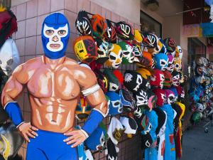 Mexican Wrestling Masks for Sale on South Vanness Avenue and 24th Street by Sabrina Dalbesio