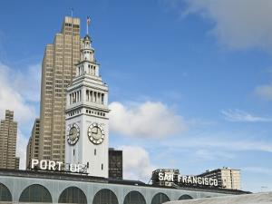 Port of San Francisco Sign and Ferry Building Clock Tower by Sabrina Dalbesio