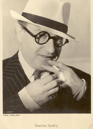 Sacha Guitry French Actor and Playwright, Lighting a Cigarette