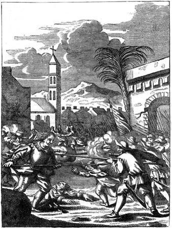 Sack of Puerto Principe, Hispaniola, by Captain Morgan, 1667