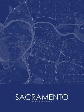 Sacramento, United States of America Blue Map