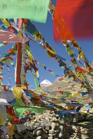 Sacred Mt Kailash and Prayer Flags