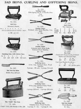 Sad Irons, Curling and Goffering Irons