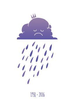 Sad Purple Rain Cloud