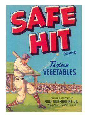 Safe Hit Vegetable Crate Label
