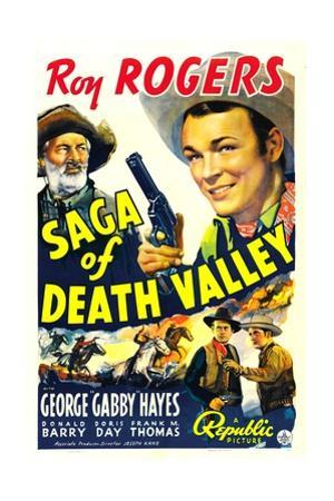 SAGA OF DEATH VALLEY, top from left: George 'Gabby' Hayes, Roy Rogers, 1939.