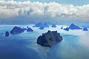 Beauty Islands like on Mars, Aerial View from the Plane by saiko3p