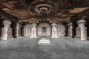 Ellora Caves near Aurangabad, Maharashtra State in India by saiko3p
