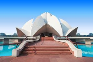 The Lotus Temple, Located in New Delhi, India, is a Bahai House of Worship by saiko3p