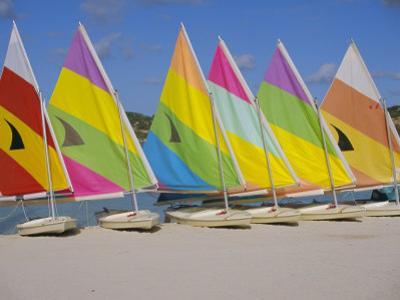 Sail Boats on the Beach, St. James Club, Antigua, Caribbean, West Indies, Central America