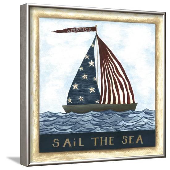 Sail the Sea-Cindy Shamp-Framed Art Print