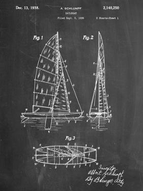 Blueprints posters for sale at allposters sailboat patent malvernweather Images