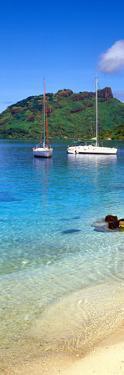 Sailboats in the Ocean, Tahiti, Society Islands, French Polynesia