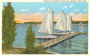 Sailboats, Pier, Buckeye Lake, Ohio
