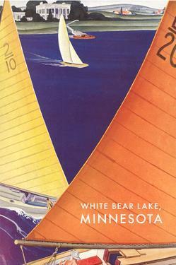 Sailing on White Bear Lake, Minnesota