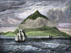 Sailing Ships Passing the Peak of Tenerife, or Teyde, Canary Islands, 1800s