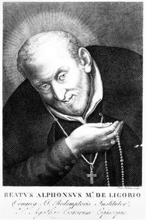 Saint Alphonsus Maria De Ligorio, Print Made by Joan Petrini