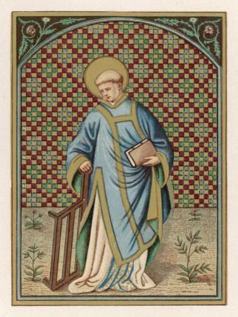 Saint Laurence of Rome Depicted with the Grid on Which He Will Soon be Martyred