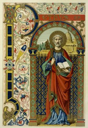 Saint Peter the First Pope Depicted Holding the Key of the Kingdom the Vatican