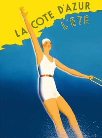 La Cote d'Azur - L'ete (Summer) - Paris-Lyon-Mediterranee Railway (PLM), French Railroad by Sainte