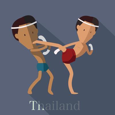 Muay Thai of Thailand Icon Eps 10 Format