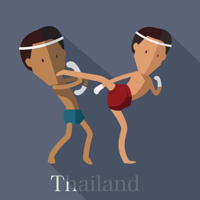 Muay Thai of Thailand Icon Eps 10 Format