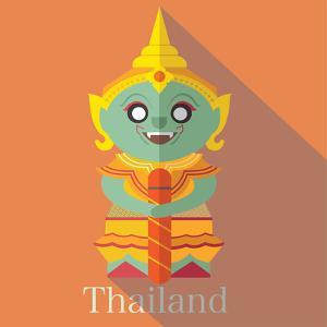 Wat Pra Kaew Icon Eps 10 Format by Sajja