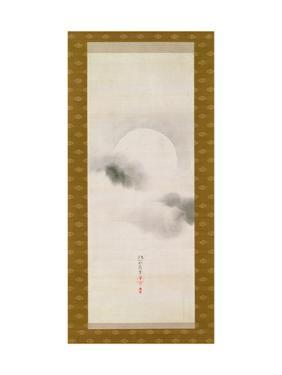 Hanging Scroll Depicting the Autumnal Moon, from a Triptych of the Three Seasons, Japanese by Sakai Hoitsu