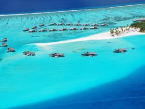 Aerial View of Resort, Maldives, Indian Ocean, Asia by Sakis Papadopoulos