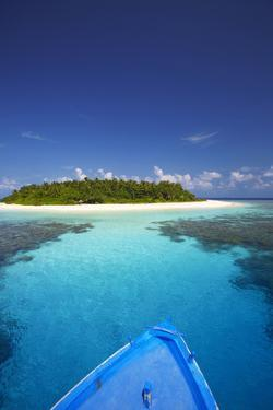 Boat Heading for Desert Island, Maldives, Indian Ocean, Asia by Sakis Papadopoulos
