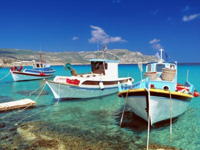 Fishing Boats at Anopi Beach, Karpathos, Dodecanese, Greek Islands, Greece, Europe by Sakis Papadopoulos