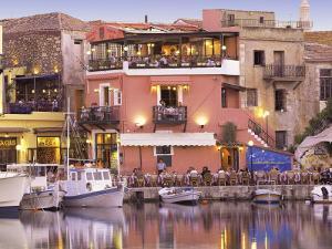 Rethymnon Old Port and Restaurants, Crete Island, Greek Islands, Greece, Europe by Sakis Papadopoulos