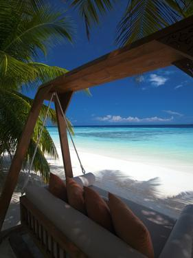 Swing on Tropical Beach, Maldives, Indian Ocean, Asia by Sakis Papadopoulos