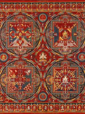 Sakya Order, Four Mandalas of the Vajravali Series (Thangk)